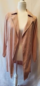 FOREVER 21 size small trench style pink coat
